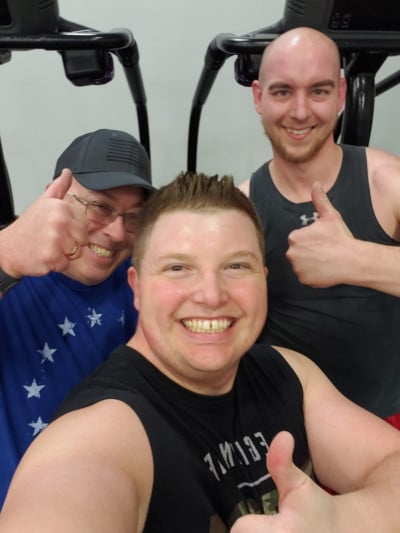 brothers at the gym