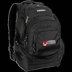 black multi-pocket backpack